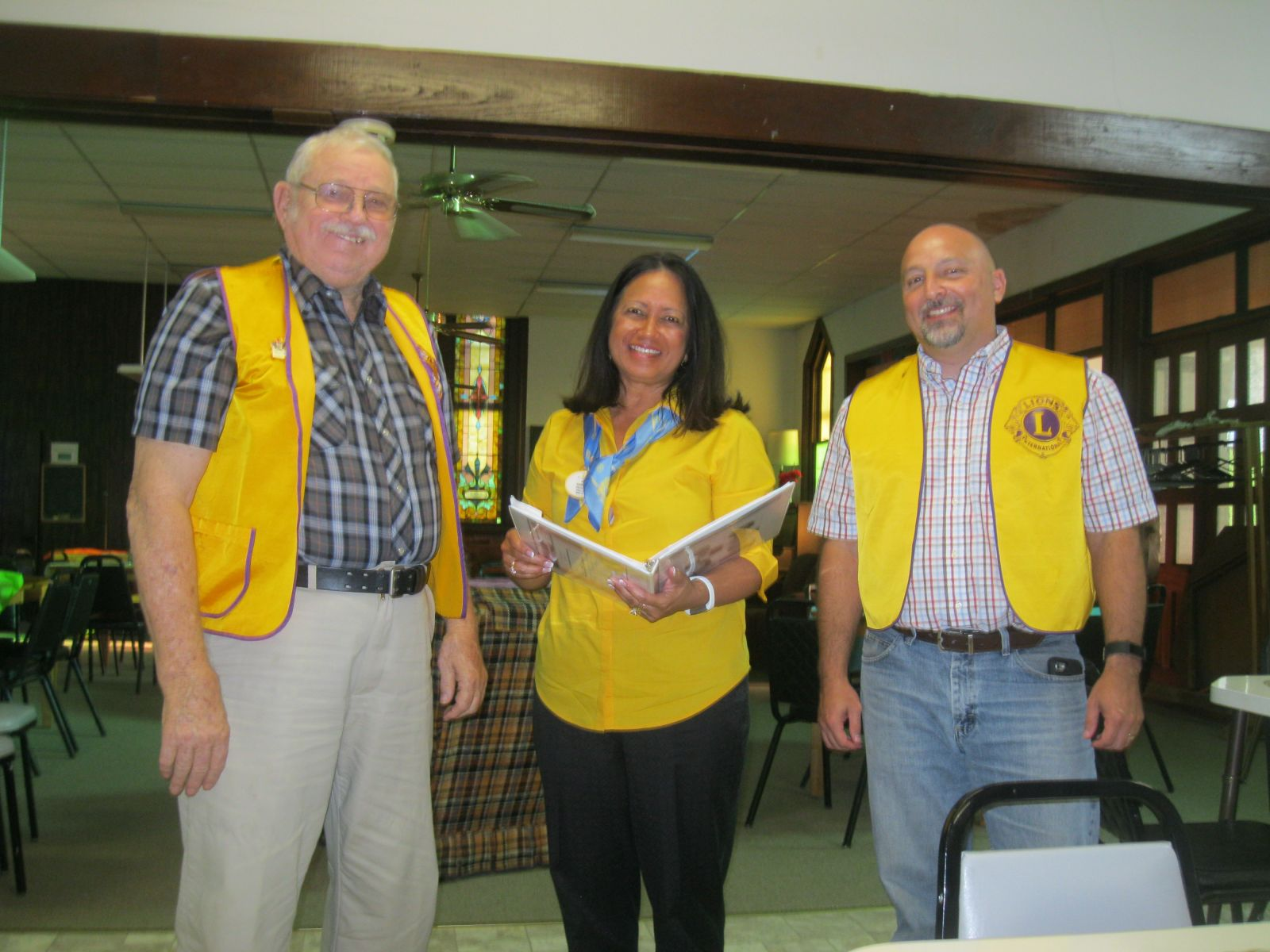 Lion Deb with at the Highland Lions Club Installation of Officers