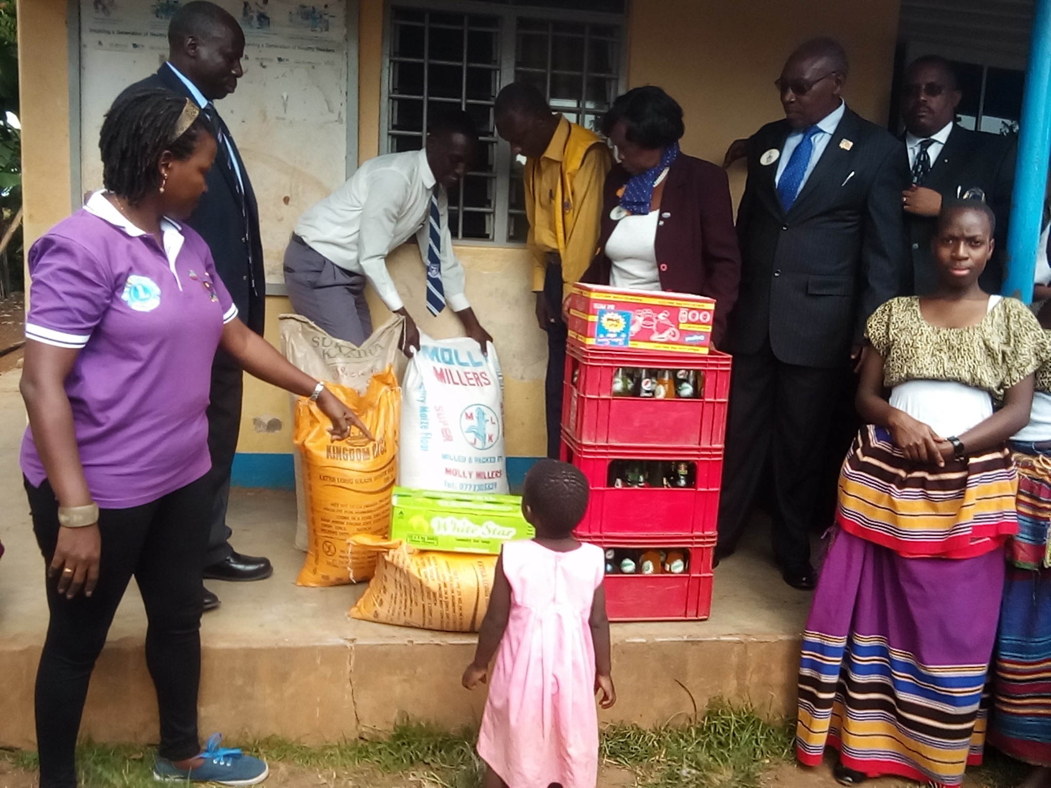 Food distributed to school for disabled
