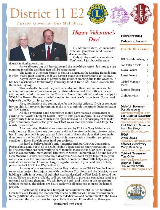 February Newsetter