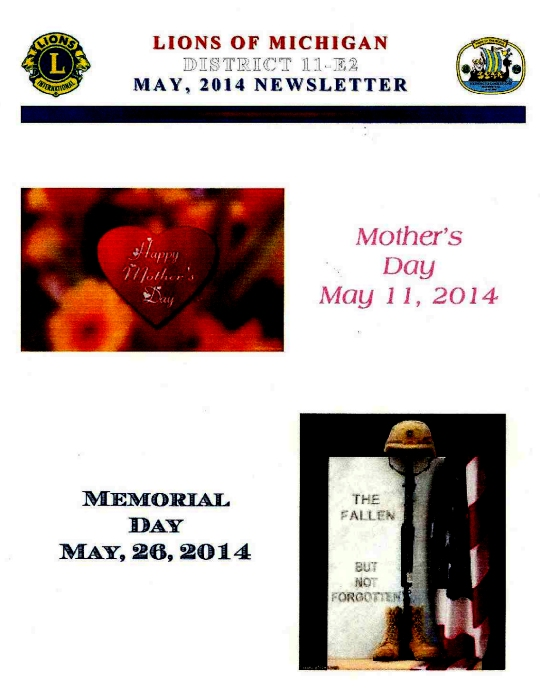 District 11-E2 Newsletter - May2014