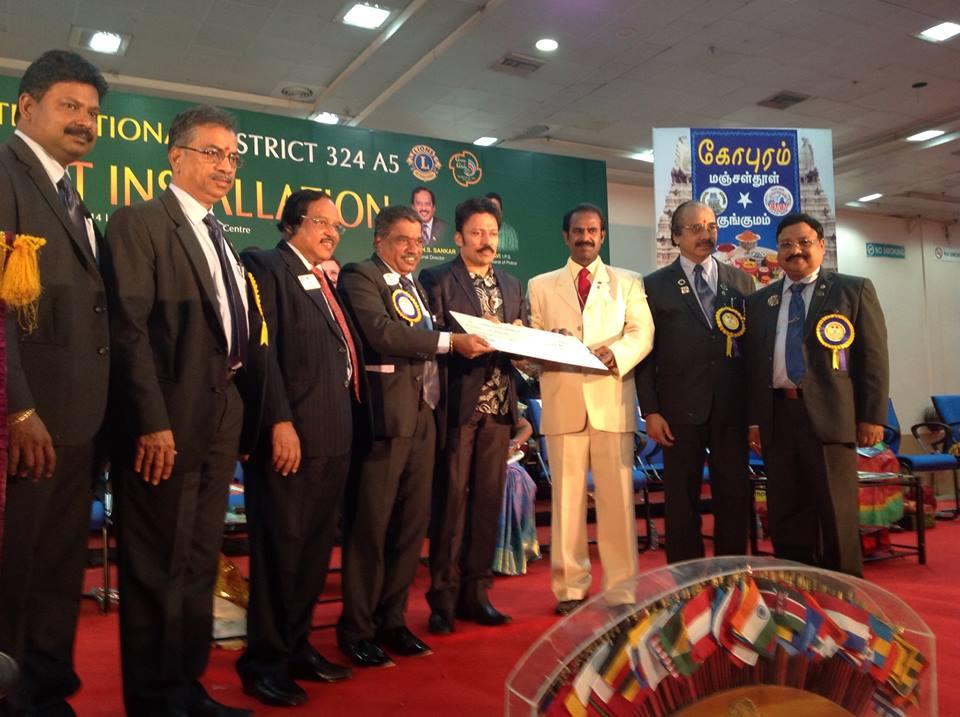 DG PMJF LN K.S. Kannan donates 10 Lakhs to Activity centre