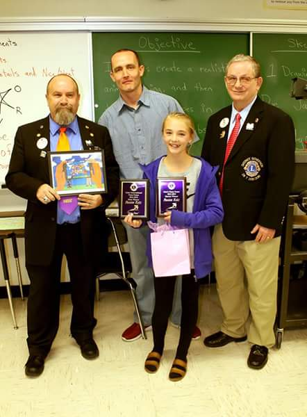 Congratulations to Passion Reitz, a student at ‪#‎RedHillsMiddleSchool‬ in Richfield, who won both the Utah District 28 T and Utah State-level competitions of the ‪#‎LCI‬ Peace Poster Contest. She was presented two plaques, a T-Shirt, and cash prizes for her award-winning poster,