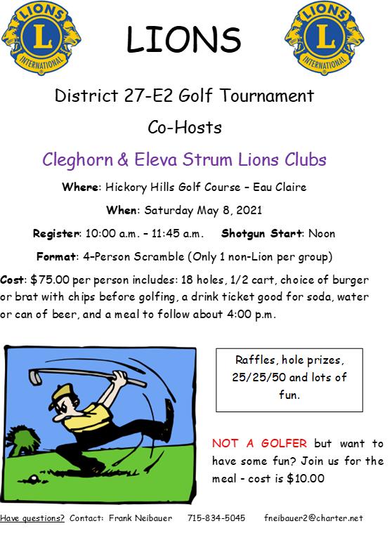 2021 E2 District Golf